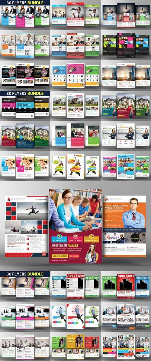 30 Business Flyers Bundle - 2395049
