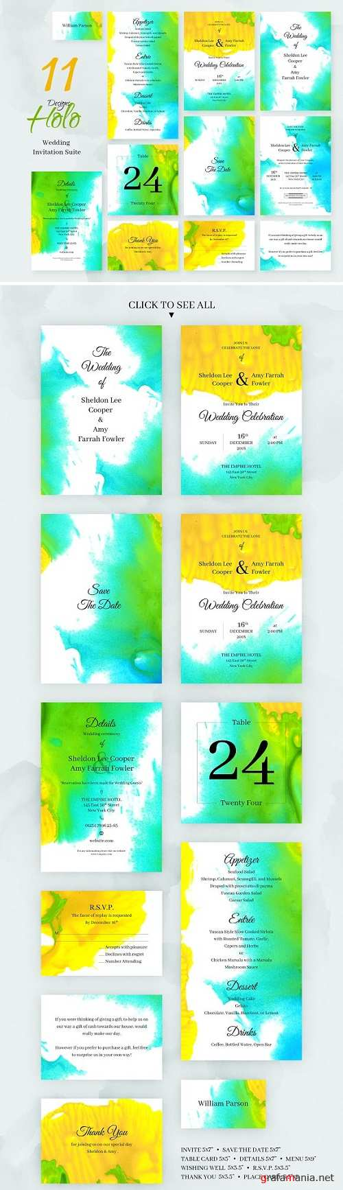 Holo. Wedding Invitation Package 2230751