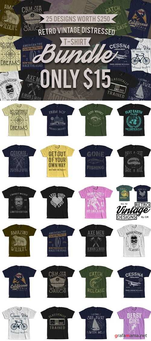 25 Retro Vintage T-Shirt Designs 2475655