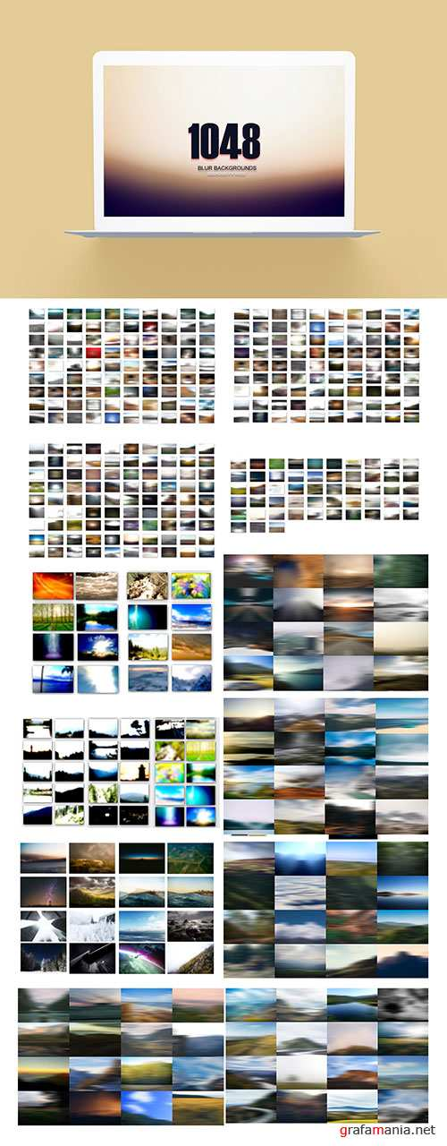 1048 Blur Backgrounds Pack