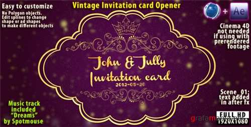 Vintage Invitation Card - After Effects Project (Videohive)