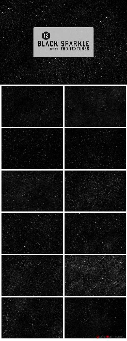 12 Black Sparkles Textures Backgrounds