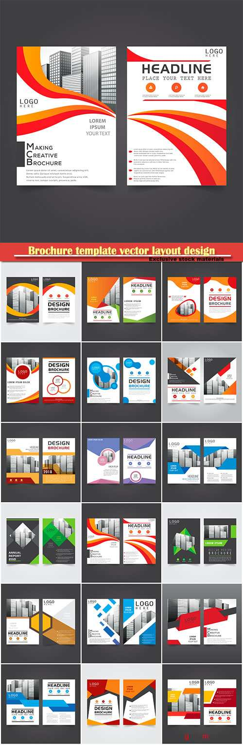 Brochure template vector layout design, corporate business annual report, magazine, flyer mockup # 170