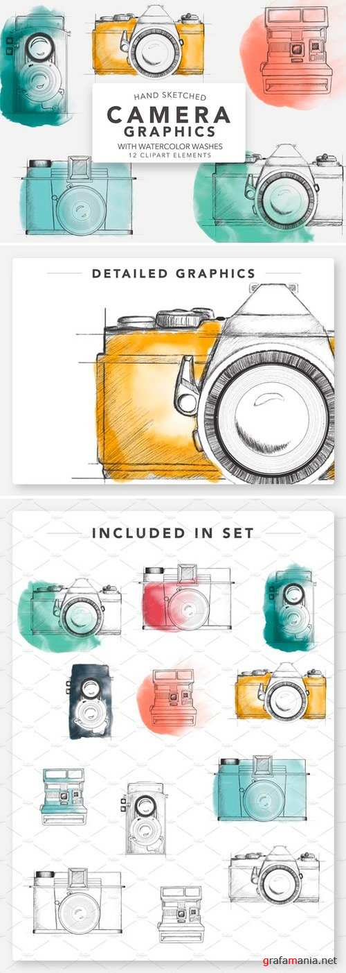 SKETCHED CAMERA GRAPHICS FOR LOGOS 2380251