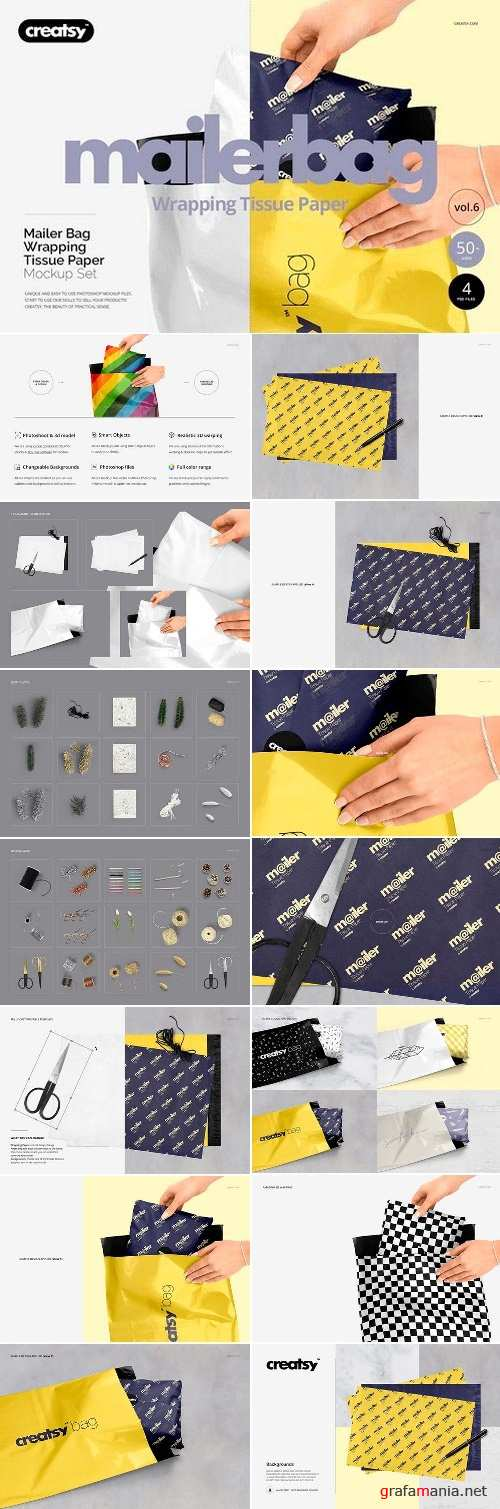 Mailer Bag Wrapping Tissue Paper Set 2142983
