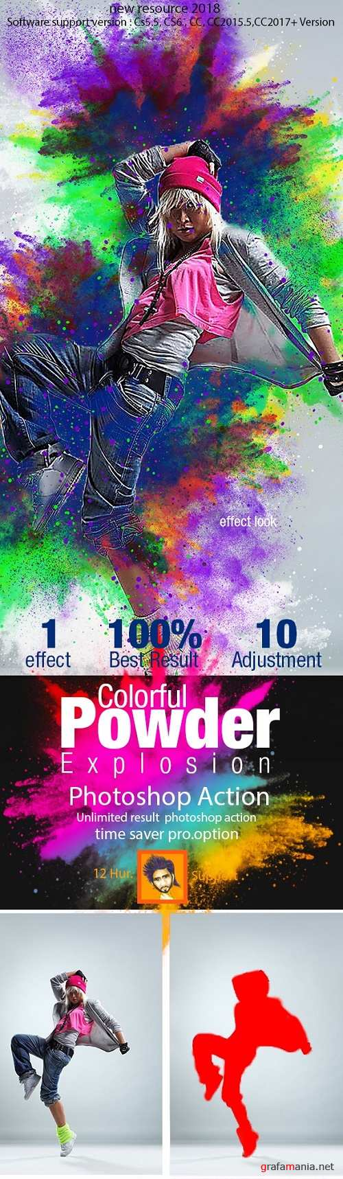 Colorful Powder Explosion Action 21929487