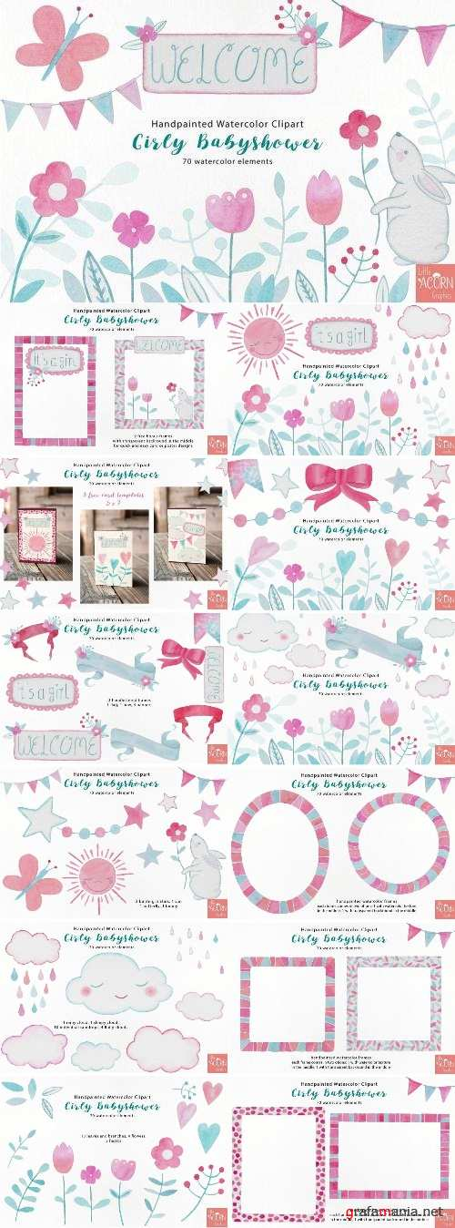 Girly Babyshower Graphics Pack - 2392376