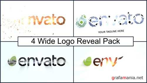 Wide Logo Reveal Pack - After Effects Project (Videohive)