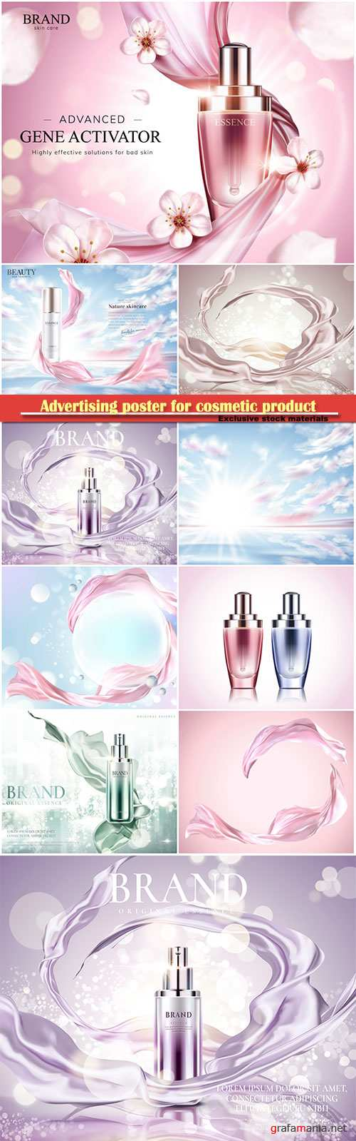 Advertising poster for cosmetic product, magazine, design of cosmetic package # 4