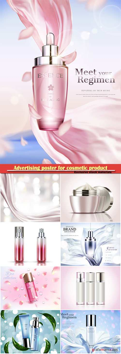 Advertising poster for cosmetic product, magazine, design of cosmetic package # 5
