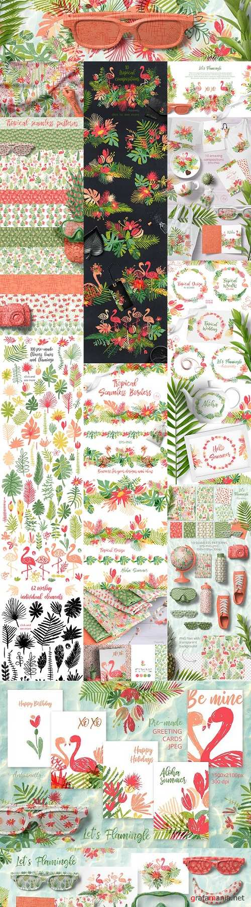 Lets Flamingle tropical collection 2441988