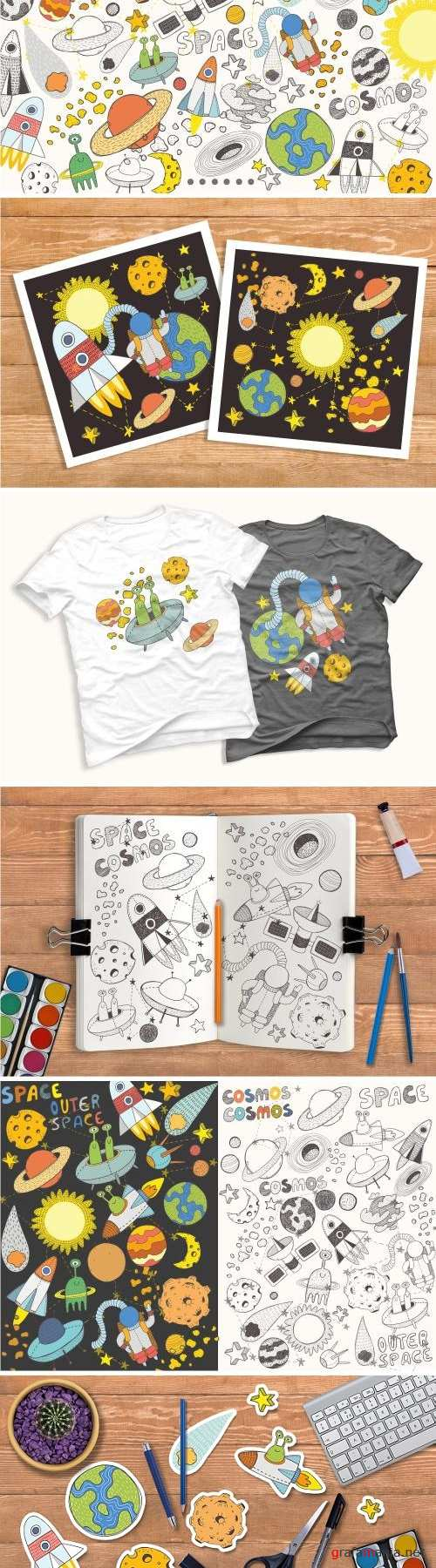 Space objects collection - 2426014