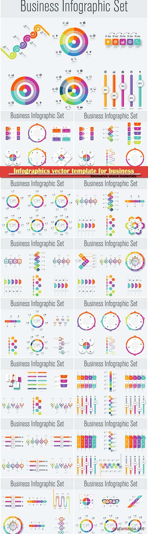 Infographics vector template for business presentations or information banner # 63