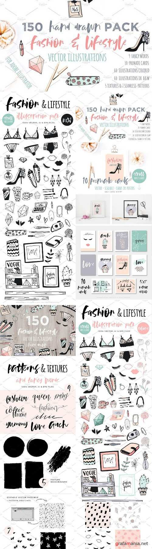 Fashion/Lifestyle illustration pack 1547202