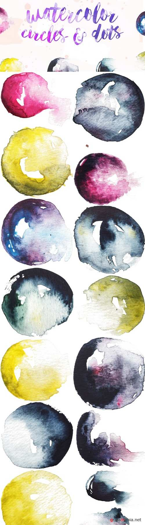 Watercolor Circles & Dots