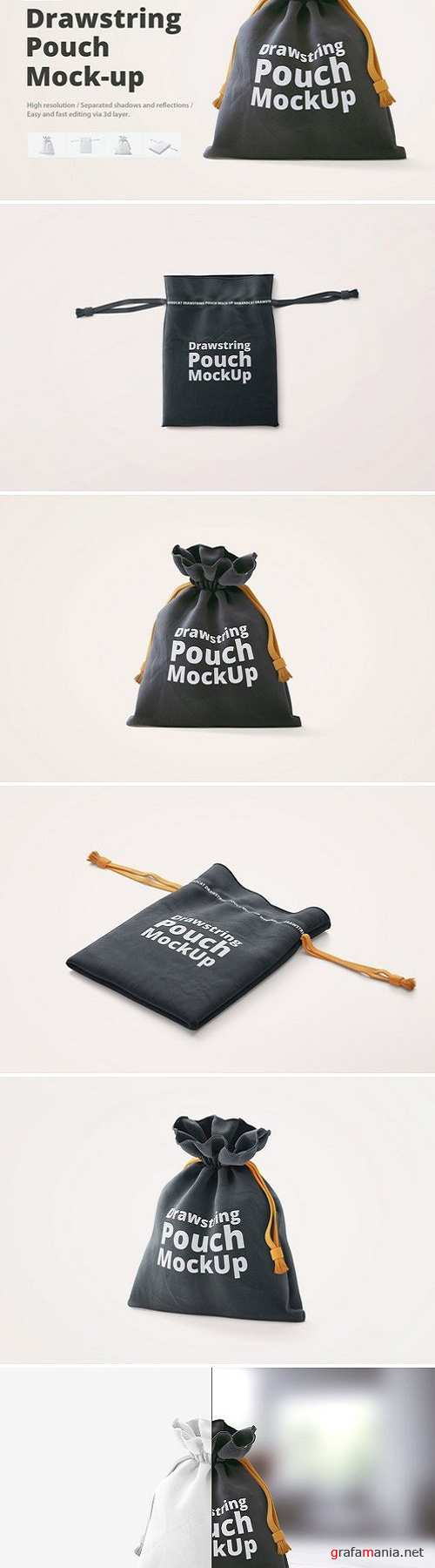 Drawstring Pouch Mock-Up 2429756
