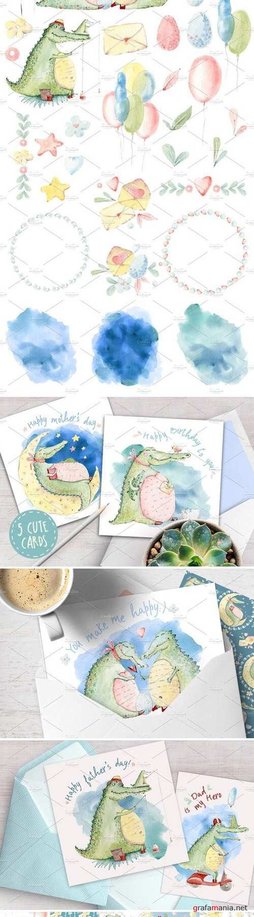 CROCO'S JOY watercolor set 1531713