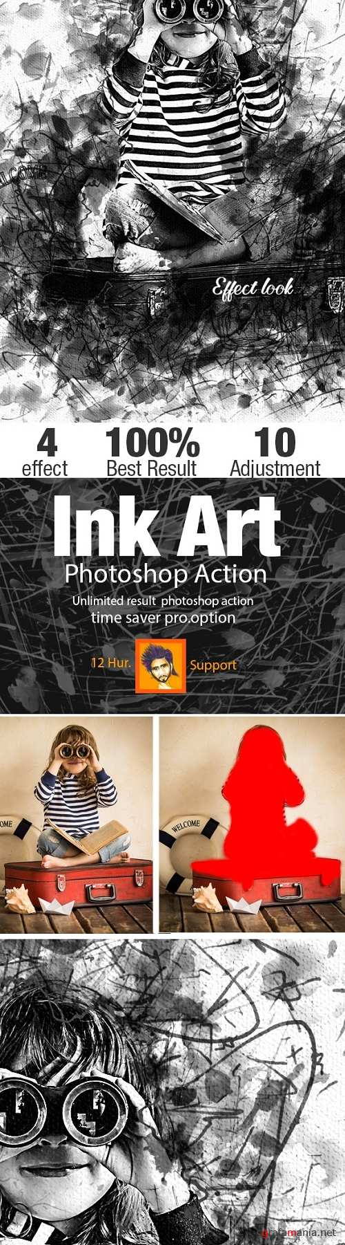 Ink Art Photoshop Action 21871329