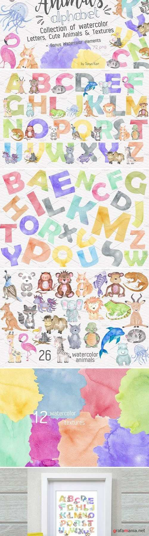 Animals Alphabet Watercolor Kit 1536245