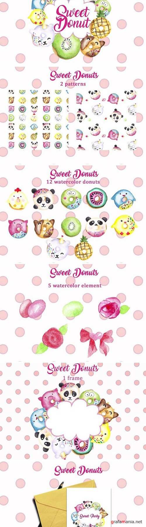 Sweet donuts 2458925