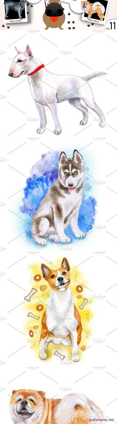 Watercolor Dogs - Collection 11 of 12 - 1838651