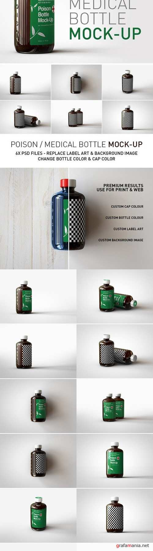Amber Poison Bottle Mock-Up 2455356