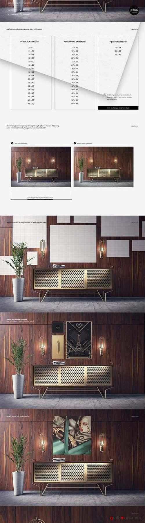 Art Deco Canvas Print Mockup 2533842