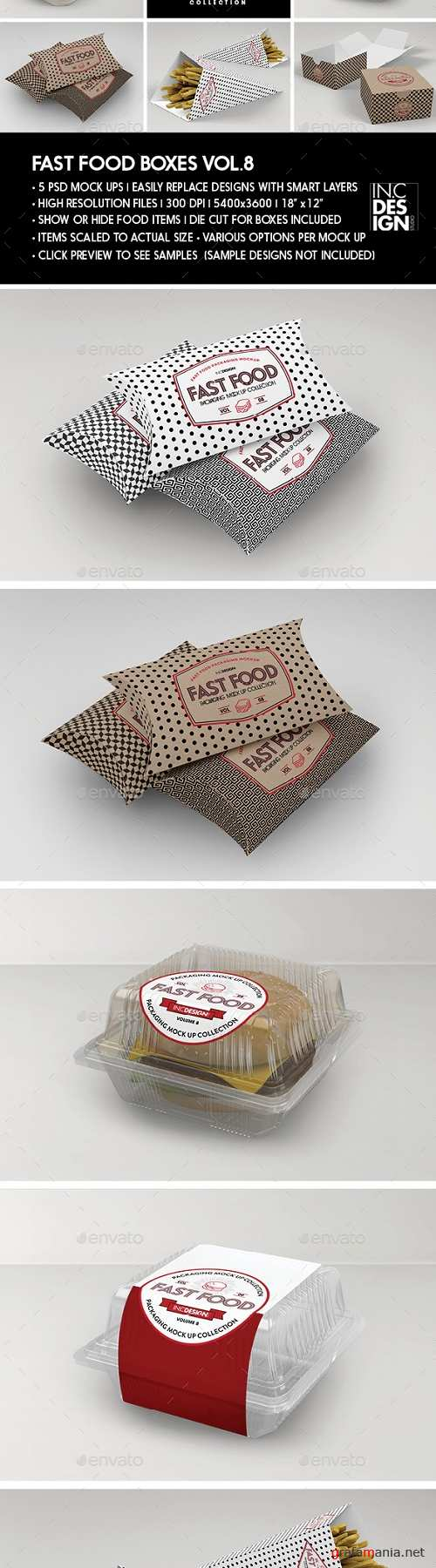 Fast Food Boxes Vol.8: Take Out Packaging Mock Ups - 19181969