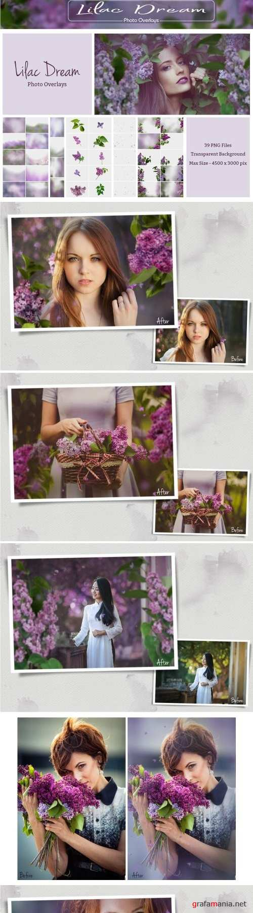 Lilac Photo Overlays (39 PNG) - 2581969