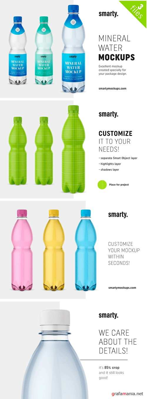 Mineral Water Bottle Mockups - 2448942