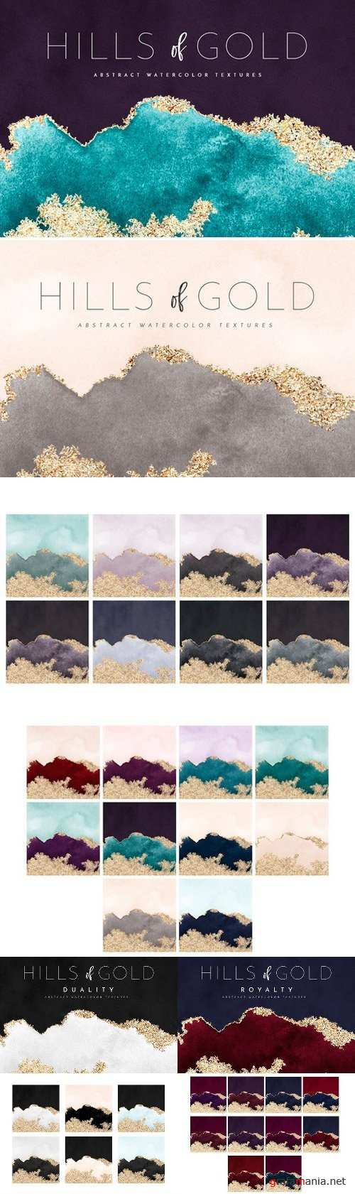 Watercolor Texture Gold Foil 2519361