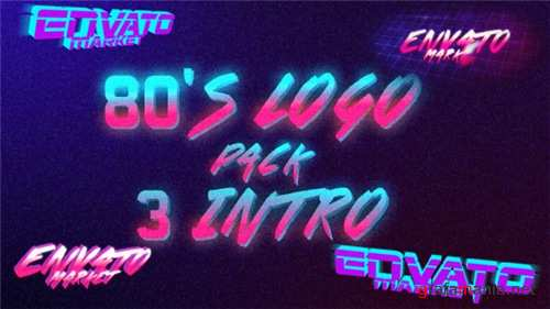 80's Logo Intro Pack 3 in 1 - After Effects Project (Videohive)