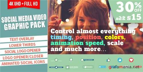 Social Media Video Graphic Pack - After Effects Project (Videohive)