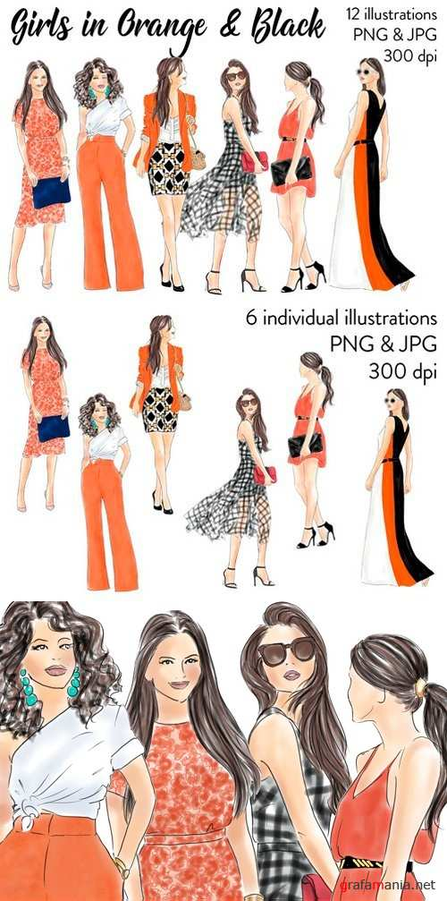 Girls In Orange & Black 2517736