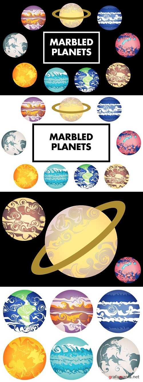 Marbled Planets 1546667