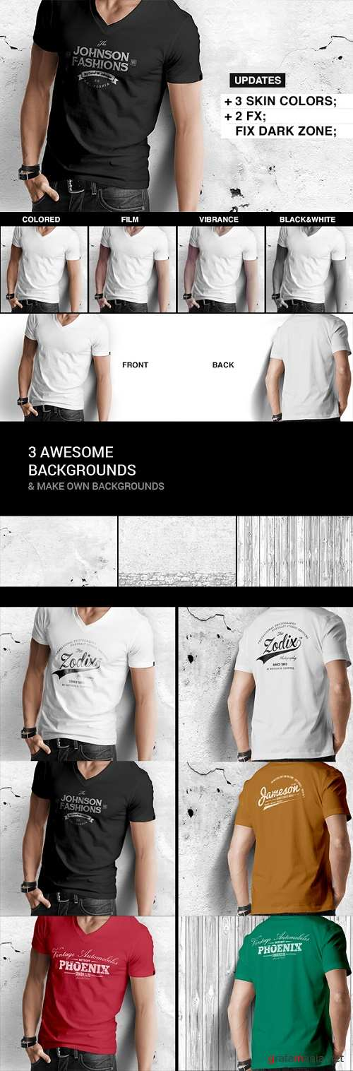 Mens T-shirt Mock-up 8498447