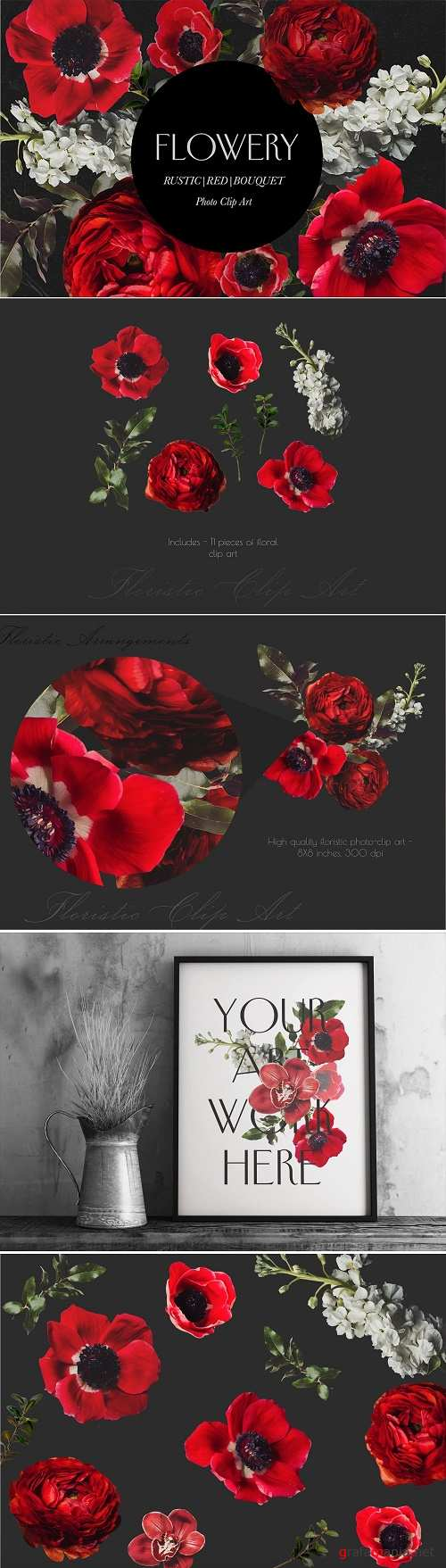 Red Rustic Bouquet - 2533739