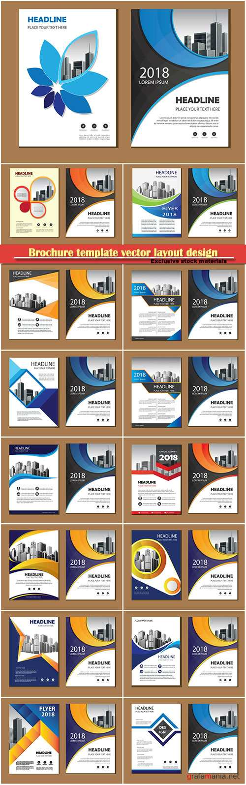 Brochure template vector layout design, corporate business annual report, magazine, flyer mockup # 174
