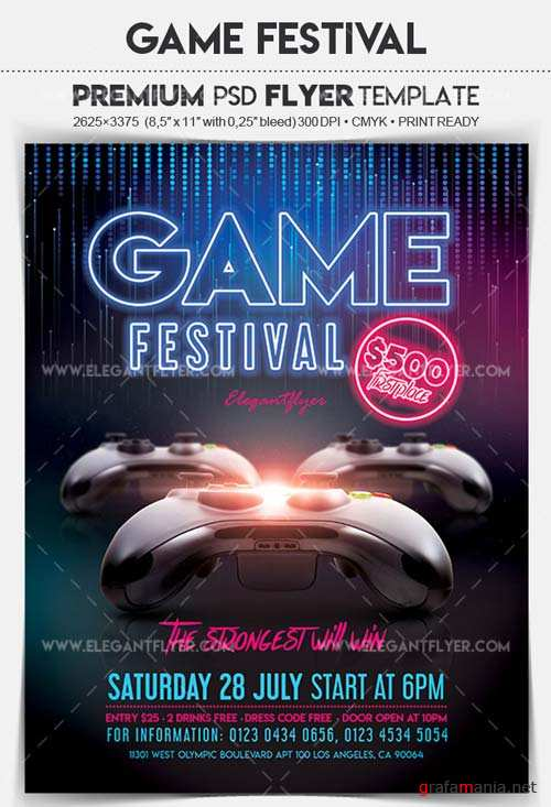 Game Festival V1 2018 Flyer PSD Template