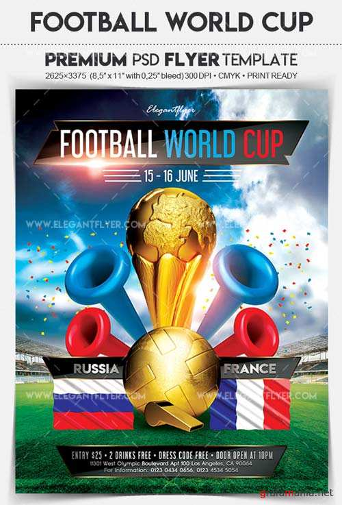 Football World Cup V3 2018 Flyer PSD Template