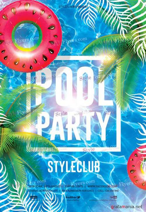 Pool Party V19 2018 PSD Flyer Template