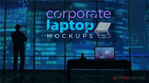 Corporate Laptop Mockups - After Effects Project (Videohive)