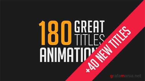 180 Great Title Animations - After Effects Project (Videohive)
