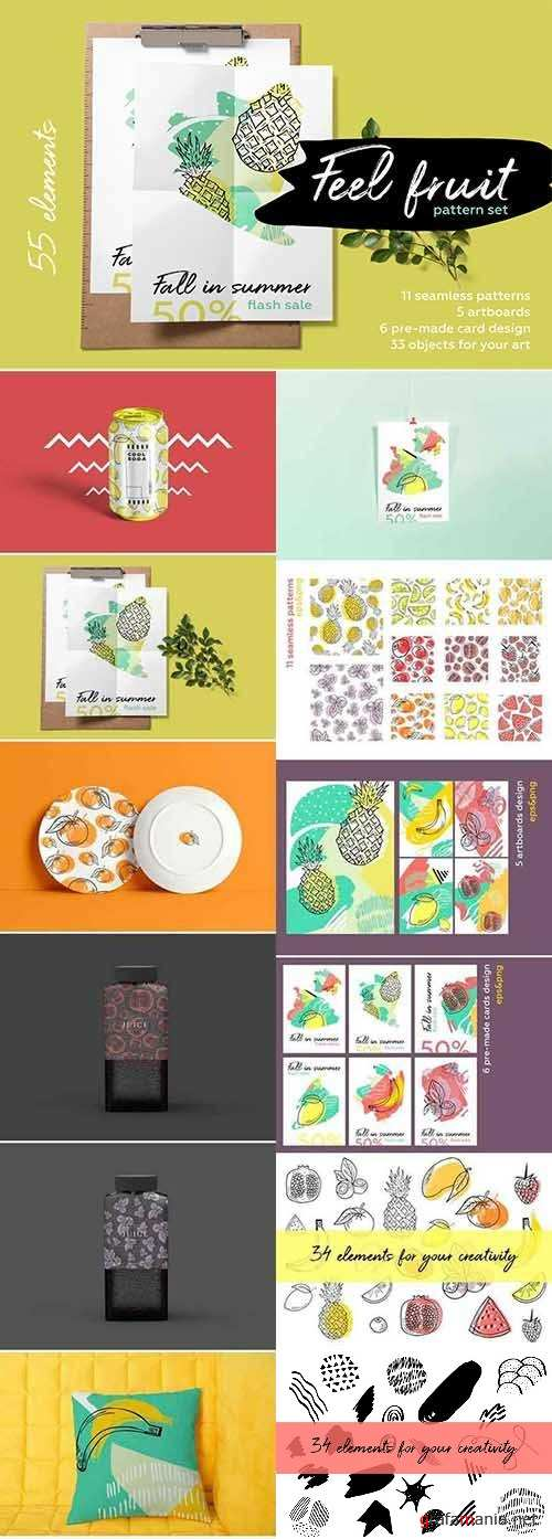 Feel fruit Summer brush pattern set 2545096