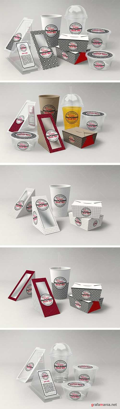 2-in-1 Mock Up Template Fast Food DELI Set Branding