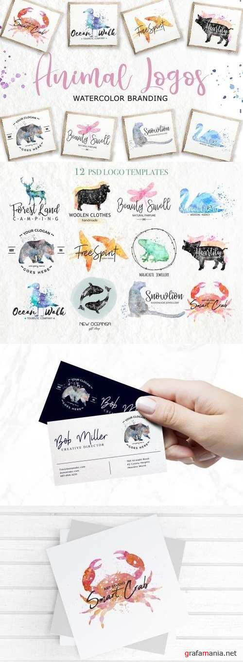 Watercolor Animal Logos