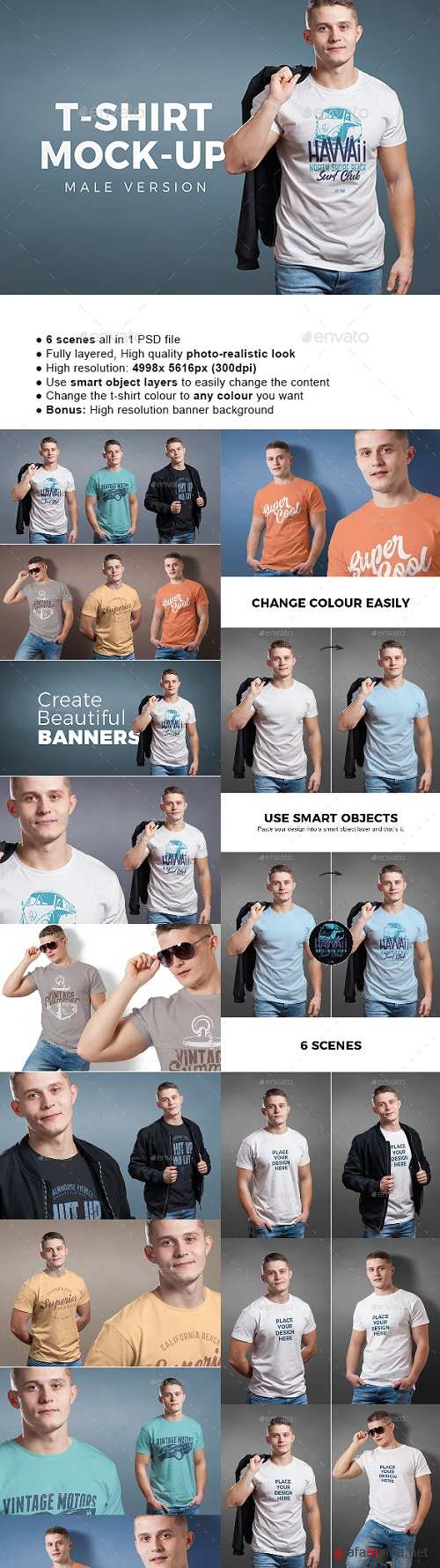 Male T-shirt Mock-up 22161321