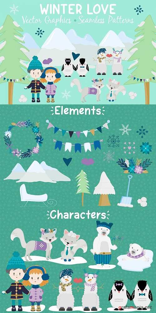Winter Love - Graphics and Patterns