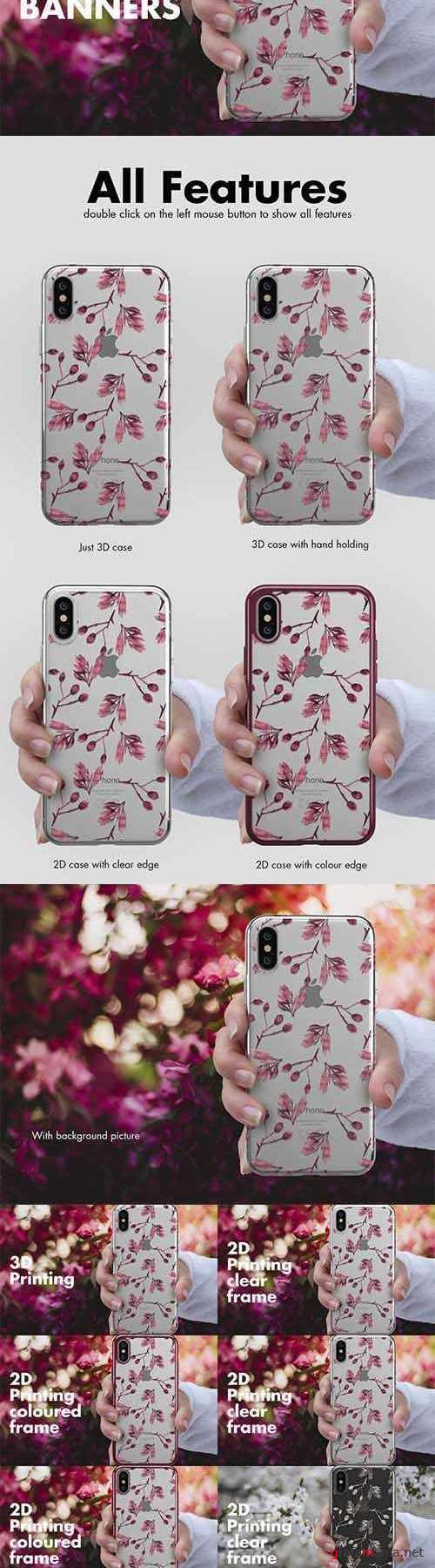 iPhone X Case Banners Mock-up vs1 2602462