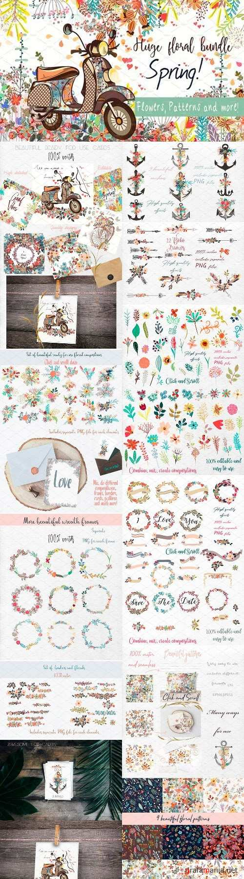 It's spring! Vector and PNG clipart 2517590